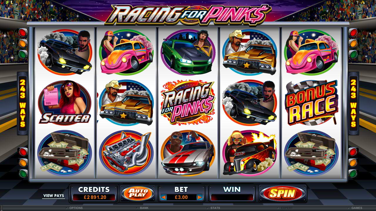 Online spilleautomater møter gateløp i Racing for Pinks